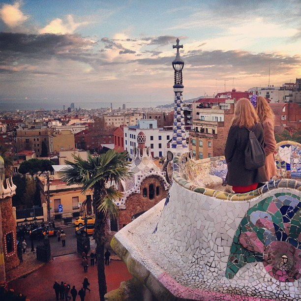 Sunset at Park Güell
