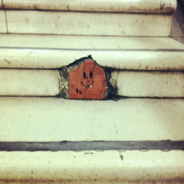 Happy stair graffitti